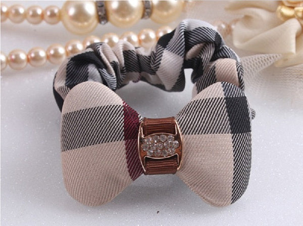 Women's Scrunchie Girl Hair Tie Plaid Hair Rpoes Design Ponytail Elastic Girls Hair Holder Rope Fashion Women Hair Accessories