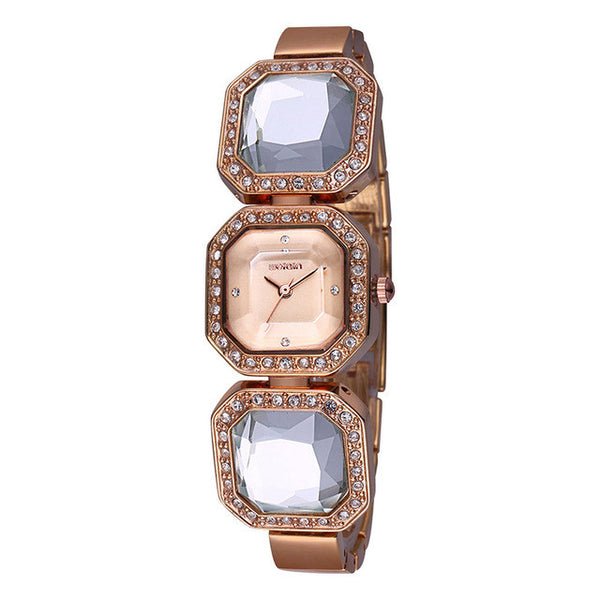 WEIQIN Big Diamond Shape Crystal Bracelet Watches Women Timepiece Female Wristwatch Dress Watch Relogio Feminino orologio donna