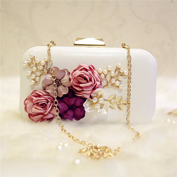 bag - Fashion accessories ,clothing, jewelry, AEQUEEN Party Bags Women Elegant Flowers Pearls Evening Clutch Bags Female Handmade Wedding Bags And Evening Bag Handbags - clothing, Gorgeous things online - gorgeous things online