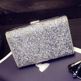 Gold clutch bags Woman Evening bag Diamond Rhinestone Clutches Crystal Wallet Wedding Purse Party Banquet Black/Gold/Silver