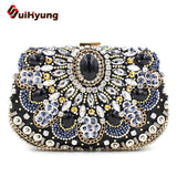 New Arrival Luxury Gem Wedding Bride Handbag Quality Diamond Sequins Beaded Evening Bags Dinner Party Clutch Ladies Shoulder Bag