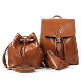 - Fashion accessories ,clothing, jewelry, 3Pcs Set Drawstring Bag Women Backpack Pu Leather Backpack Women Shoulder Bags Purse Vintage School Backpacks For Teenage Girls - clothing, Gorgeous things online - gorgeous things online