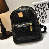 backpack - Fashion accessories ,clothing, jewelry, Classic gold and silver lady backpack 2016 Korean  women's mini backpacks crocodile grain PU leather rivets women shoulder bag - clothing, Gorgeous things online - gorgeous things online