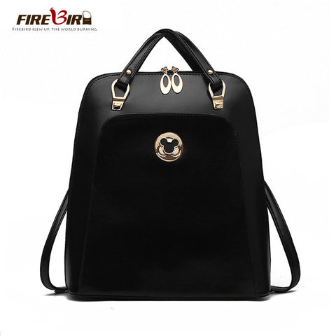 2016 High-quality PU leather shoulder bag women backpack Korean fashion leisure wild backpack mochila feminina H31
