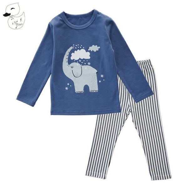 baby clothes - Fashion accessories ,clothing, jewelry, BINIDUCKLING Autumn Boy Elephant Cartton Cute Sleepwear Pajama Sets Cotton Baby Sets Striped t-shirt+Pants 2 pcs Clothes  Bebes - clothing, Gorgeous things online - gorgeous things online