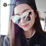 AOUBOU Black Butterfly Sunglasses Women Brand Designer Alloy Vintage Arrow UV400 Thin Latest Trends Sun Glasses Gafas Sol Mujer