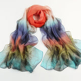 scarf  100%  silk Winter Long Scarf women Luxury Brand Scarf Spring Autumn Female Shawl Printed Shawls big size Beach Cover-ups