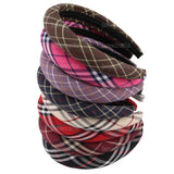 Hot Sale Thick Plaid Plastic Hairband Headwear for Women Brief Fashion Girls Women Headband Lovely Hair Accessories