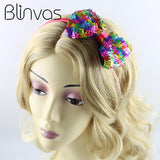 New Headband Bowknot Kids Baby Girls Women Elastic Hairbands Bright Colorful Rainbow Hair Accessories Cute