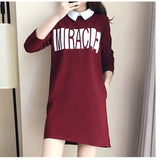 dress - Fashion accessories ,clothing, jewelry, 2017 Spring 5XL XXXXL XXXL XXL Plus size Women Clothing Fashion Loose Peter pan Collar Letter Print Pockets Red Big Dresses - clothing, Gorgeous things online - gorgeous things online