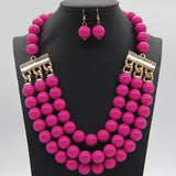 New Arrivals African Acrylic Beads Jewelry Sets 6 Colors Earring Necklace Women Wedding Party Jewelry Sets Accessories
