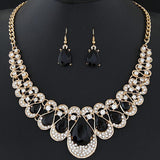 jewelry set - Fashion accessories ,clothing, jewelry, 1 set Women's Drop Earrings Chain Pendant Dangle Hook Bib Rhinestone Jewelry Set brinco noiva Party - clothing, Gorgeous things online - gorgeous things online