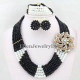 Amazing African Beads Jewelry Set Crystal Beads Necklace Set Nigerian Wedding African Jewelry Set Crystal Jewelry Set  E1032