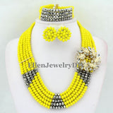 jewelry set - Fashion accessories ,clothing, jewelry, Amazing African Beads Jewelry Set Crystal Beads Necklace Set Nigerian Wedding African Jewelry Set Crystal Jewelry Set  E1032 - clothing, Gorgeous things online - gorgeous things online