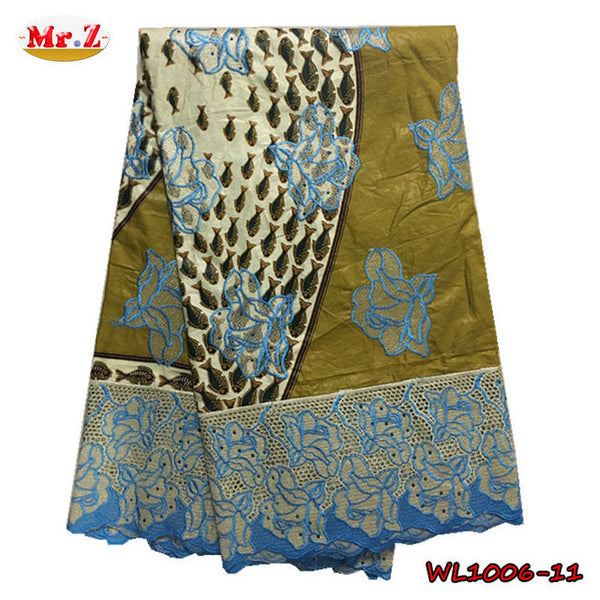 Mr.Z 2017 Guipure Super Wax With Lace High Quality Embroidered Wax Lace Fabric With Stones African Lace Fabric Wax For Clothes