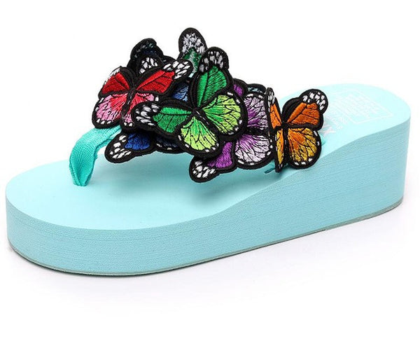 slippers - Fashion accessories ,clothing, jewelry, Butterfly Slippers Female Summer Leisure Beach Shoes Slip Slope Women Slippers Funny Slipper Sy-2269 - clothing, Gorgeous things online - gorgeous things online