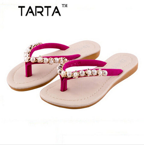 slippers - Fashion accessories ,clothing, jewelry, 2017 New Summer Style Women Fashion New Female Pearl Diamond Sandals Slippers Slip Angle .DFGD-140 - clothing, Gorgeous things online - gorgeous things online