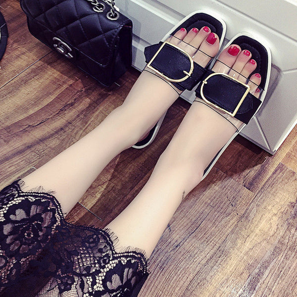 Mom Summer Fashion Sandals and Slippers, Soft-soled Casual Female Slippers, Flat Slippers Beach Female Slippers Women Shoes 171