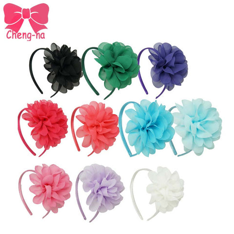 hair accessory - Fashion accessories ,clothing, jewelry, 10pcs/lot High Quality Chiffon Flower Hairband Headband Alice Band For Kids Girls Handmade Headband  Children Hair Accessories - clothing, Gorgeous things online - gorgeous things online