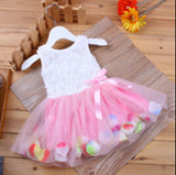 Retail!  2014 summer girls dress girls rose petal hem dress color cute frozen dress girls  baby dress 0-2 years