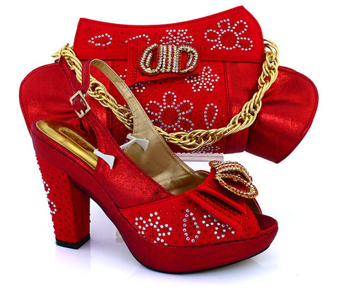 shoe bag set - Fashion accessories ,clothing, jewelry, 2017 African Shoe And Bag Set Italian Shoe With Matching Bag Set For Party High Quality Women Pumps Heel Shoes MM1019 - clothing, Gorgeous things online - gorgeous things online