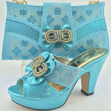 Hot Sale Italian shoes and matching bag sets high qulity for wedding and party ,Matching evening dress ME3321