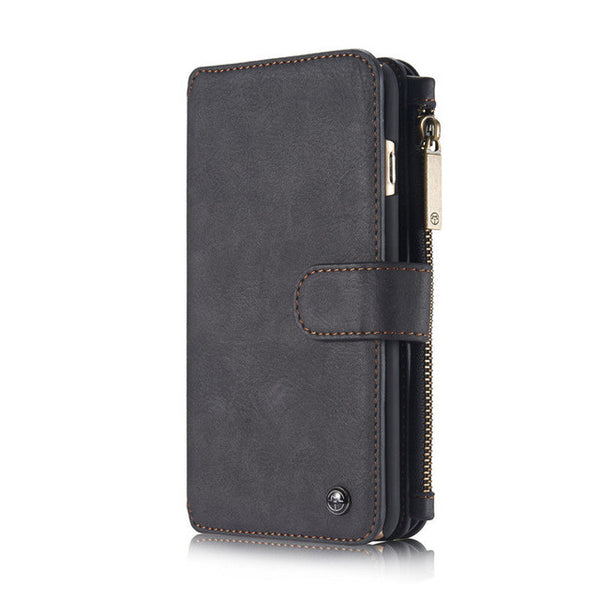 For Apple iPhone 6S /6 Wallet Case Leather Genuine Flip Retro Zipper Magnetic Cover Case For Apple iphone 6 6S Plus Case Wallet