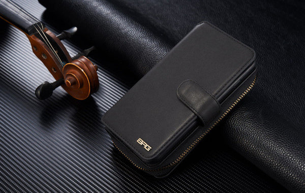Premium Zipper Wallet Leather Detachable Magnetic Case Purse wallet phone case bag for iphone5/5S/6/6S/6 Plus/6S Plus