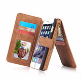 Luxury Genuine Leather Case For Samsung Galaxy s7 s7 edge Magnet Back Cover Leather Wallet Case For Iphone 6/6s 7/7 Plus Shell