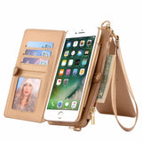 Musubo Original Cases Cover For Apple iPhone 7 Plus Luxury leather wallet case for iPhone 6 Plus 6s plus 7plus case phone bag 6p