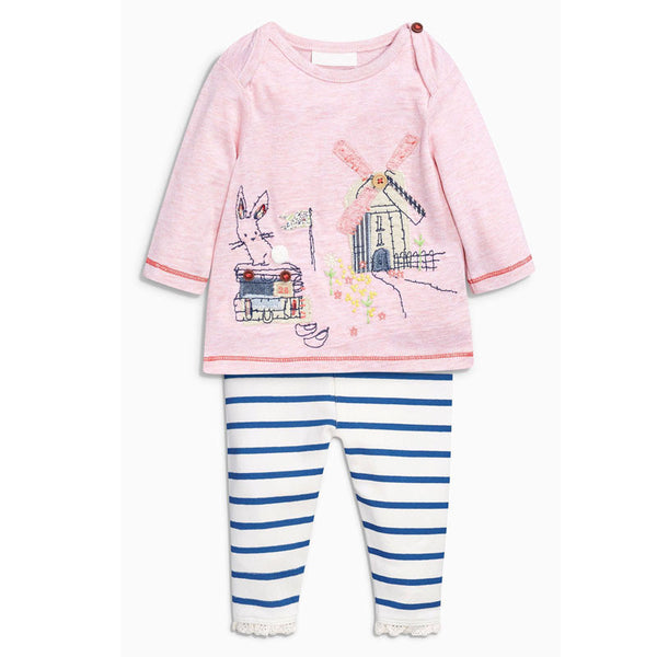 - Fashion accessories ,clothing, jewelry, Baby Girl Clothing Set  Rabbit cotton Children Suit 2PCS Kids Cute Cartoon Top T-Shirt + stripe  Pants Leggings  Girls clothes - clothing, Gorgeous things online - gorgeous things online