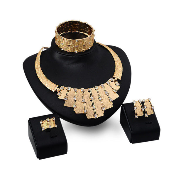 - Fashion accessories ,clothing, jewelry, Big Nigerian Wedding African Beads Jewelry Set Fashion Dubai Gold Plated Jewelry Set Costume Parure Bijoux Femme Free Gift Box - clothing, Gorgeous things online - gorgeous things online