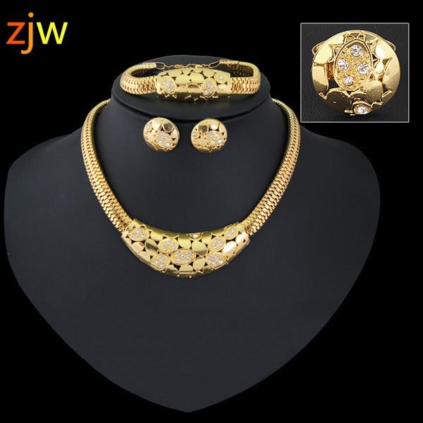 - Fashion accessories ,clothing, jewelry, Dubai gold jewelry women 18 K gold plated jewelry of the Pearl system, Africa Nigeria wedding bride accessories crystal necklace - clothing, Gorgeous things online - gorgeous things online