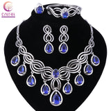 Fashion Dubai Gold Plated Crystal Bridal Tassel Jewelry sets ltalian Set For Women Girls Wedding Party Accessories Jewelry Sets