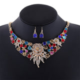 - Fashion accessories ,clothing, jewelry, Big Dubai Gold Plated Jewelry Set Wedding Rhinestone Choker Necklace Crystal Bridal Flower Jewelry Sets for Women Earrings - clothing, Gorgeous things online - gorgeous things online