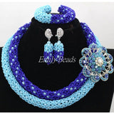 - Fashion accessories ,clothing, jewelry, Fabulous Blue African Beads Jewelry Set Dubai Gold Plated Wedding Nigerian Beads Crystal Jewelry Set Free Shipping ALJ207 - clothing, Gorgeous things online - gorgeous things online