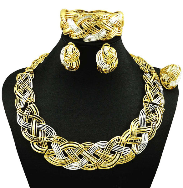 indian jewelry dubai gold plated jewelry  women fashion necklace fine jewelry sets women necklace 24k gold jewelry sets