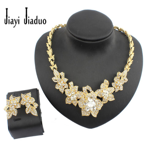 2016 New Arrival Dubai Gold Plated Fashion Wedding Bridal Accessories Costume Necklace Set African Costume Jewelry Sets