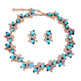 Fashion Resin Beads Gold Plated African Necklace Earrings Top Elegant  Dubai Women Costume Jewelry Sets