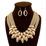 jewelry sets European luxury african Gold plated  necklace women beads bridal Fashion wedding dubai sieraden jewellery set 2017