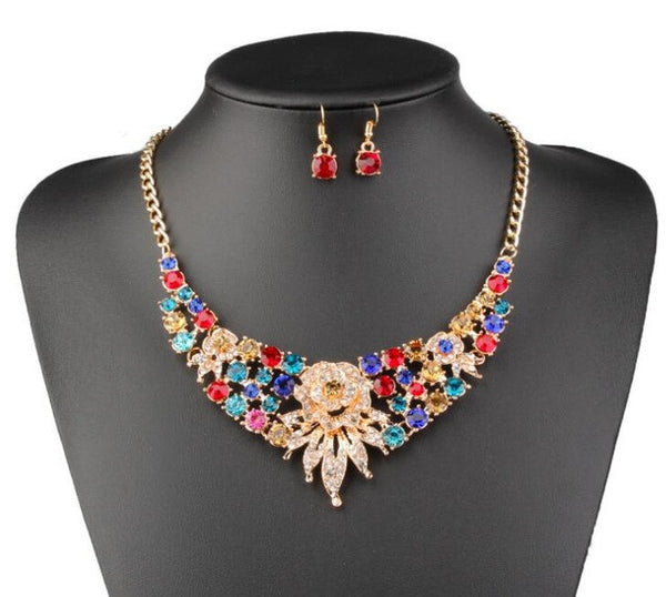 - Fashion accessories ,clothing, jewelry, 2017 New Fashion Trendy Nigerian Wedding African Beads Jewelry Sets Crystal Necklace Set Party Wedding Bridal Dubai Jewelry Set - clothing, Gorgeous things online - gorgeous things online