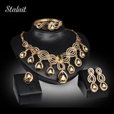 Top Exquisite Dubai Jewelry Set Luxury Gold Plated Nigerian Wedding African Beads Jewelry Set Costume Design For Women
