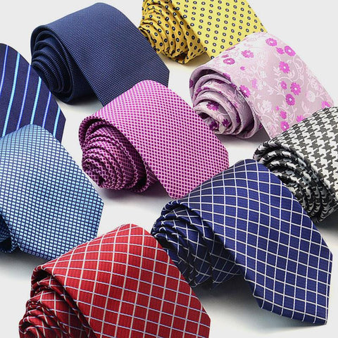 8CM Width Commercial Suit New Fashion Formal Leisure Neckwear Ties For Men Jacquard Fabric Dot Grid Plaid Work Staff Job Necktie