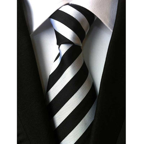 "- Fashion accessories ,clothing, jewelry, Factory Vintage business wedding Classic men tie 100% Silk stripes 3.1"" Fashion Accessories Jacquard Woven men necktie Neck Tie - clothing, Gorgeous things online - gorgeous things online"