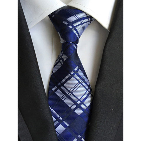 - Fashion accessories ,clothing, jewelry, Factory Wholesaler 8cm Men's Classic Tie Navy Blue White Plaid blue Stripes Party Young Cravatta Ties Jacquard Business Wedding - clothing, Gorgeous things online - gorgeous things online