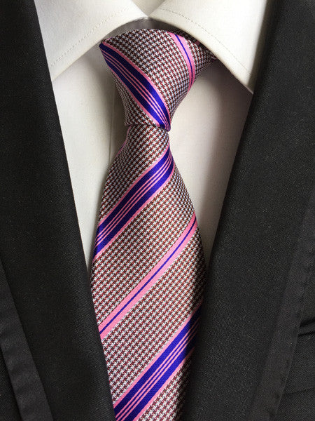 - Fashion accessories ,clothing, jewelry, Factory Wholesaler 8cm Men's Classic Tie Hot Pink w/ Purple Stripes Party 100% Silk Cravatta Ties Jacquard Business Wedding - clothing, Gorgeous things online - gorgeous things online