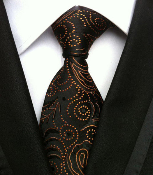 - Fashion accessories ,clothing, jewelry, Factory Wholesale 8cm Men's Classic Tie Elegant cravatta Ties Floral Paisley Flowers Black Brown Gravatas Business Wedding Lot - clothing, Gorgeous things online - gorgeous things online