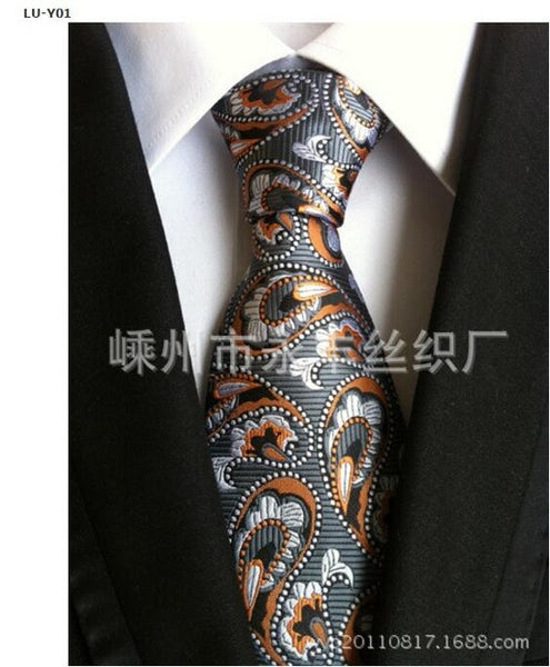 Men Neckties Designer Ties Multi-Color 2016 Fashion Wedding High latitudes Paisley cashew pattern Polyester Men's suit tie