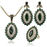 - Fashion accessories ,clothing, jewelry, 3Pcs Turkish Jewelry Luxury Green Turquoise Earrings And Necklace For Women Nigerian Wedding African Beads Jewelry Set Crystal - clothing, Gorgeous things online - gorgeous things online