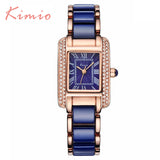 Kimio Luxury Brand Diamond clock female Quartz Women Watches Bracelet Ladies Silver Dress girl Wristwatch with Gift Box Relojes